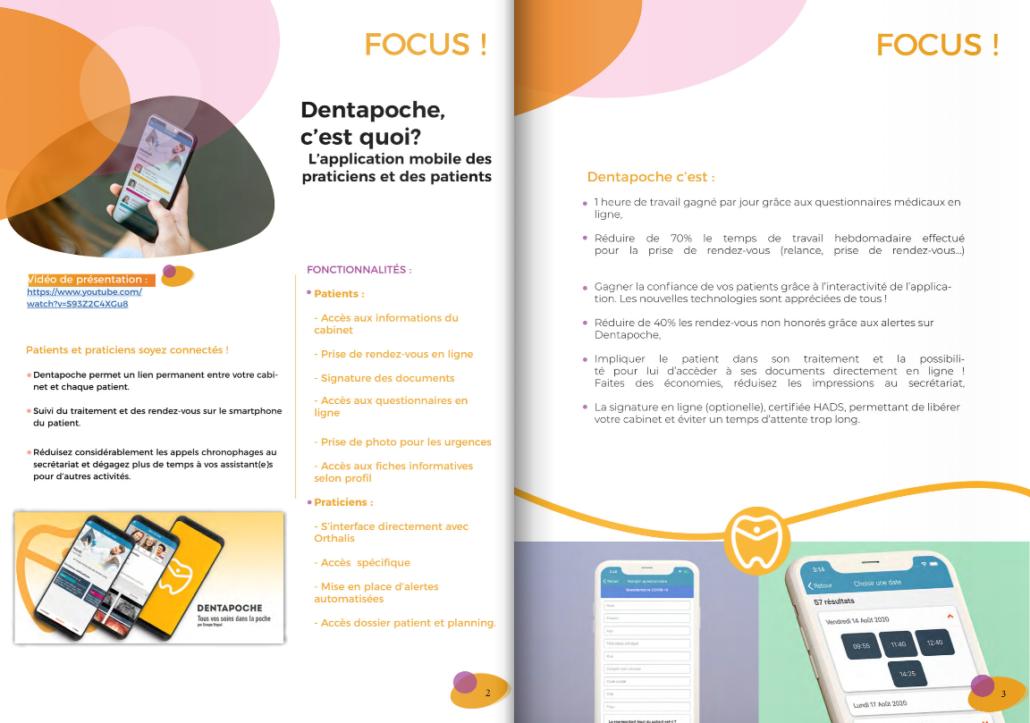 webzine pour présenter l'application Dentapoche